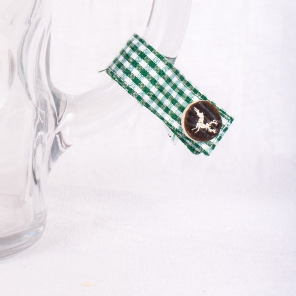 Platzhirsch-hirsch, Masserl, Maßkrugmarker, Masskrugbänder, Glasmarkierungen, meimass, mei mass, mei bandl, filzmarker, Trachtenschmuck, Charivari, bierglasmarker, Masskrugbandl, Weinglasmarker, Henkel, Hirsch, Breze, Tracht