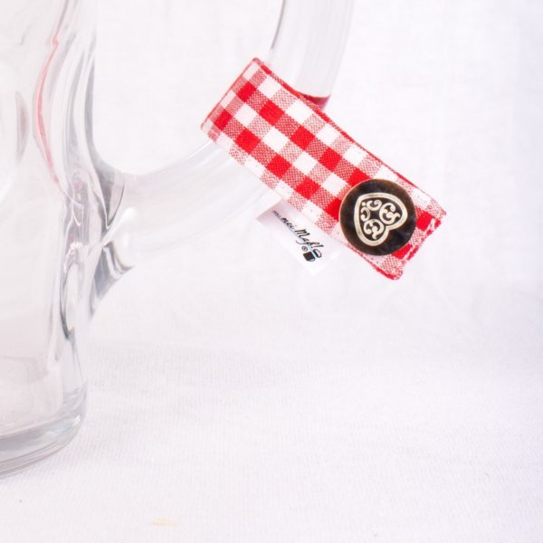 festzelt-Herz, Masserl, Maßkrugmarker, Masskrugbänder, Glasmarkierungen, meimass, mei mass, mei bandl, filzmarker, Trachtenschmuck, Charivari, bierglasmarker, Masskrugbandl, Weinglasmarker, Henkel, Hirsch, Breze, Tracht
